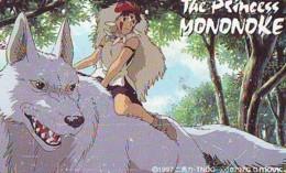 Télécarte Japon * MANGA * Comics *  THE PRINCESS MONONOKE  (16.796)  Japan PHONECARD * TELEFONKARTE * CINEMA * FILM - BD