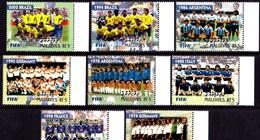 MALDIVES  2004  Soccer Football  100 Years Of FIFA, World  Champions 1974-2002,  8v. Perf. - Football