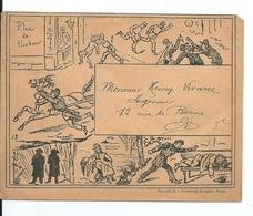 Enveloppe Illustrateur  / Lettre Illustrée : La Vie Des Gendarmes - France