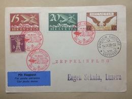 SWITZERLAND - 1930 Zeppelin Postcard 14/9/1930 - Geneve - Luzern - Zeppelinflug Cachet LZ127 Cachets - Switzerland