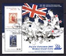 New Zealand 2005 Pacific Explorer World Stamp Expo Minisheet Used - New Zealand
