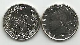 Liberia 10 Cents 1977. KM#15a.2 High Grade - Liberia