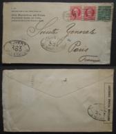CUBA Lettre 1917 Censure FRANCE 381 Et 383 Timbre Habana Vers Paris Banque Société Génrale , Cover Stamp Censor WW1 - Cuba