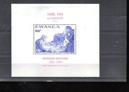 "RWANDA BLOC 70** SUR NOEL 1976 AVEC UN TABLEAU DE BOUCHER  ""LA NATIVITE"" - Rwanda"