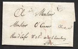 1818 - LAC - PARIS P - MINISTÈRE DE LA GUERRE - INVITATION A O'CONNOR, MAYOR D'ARTILLERIE - 1801-1848: Précurseurs XIX