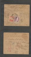 Afghanistan. 1936 (Feb) Kaboul - Turkey, Pangalti (4 March) Registered Reverse Multifkd Envelope + R-cachet + Arrival Ma - Afghanistan