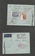 Afghanistan. 1939 (June) Kaboul - Turkey, Ankar (15 June) Reverse Multifkd Registered Envelope (roughly Opened At Right - Afghanistan