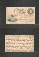Argentina - Stationery. 1905 (9 Jan) REPLY Half 6c Grey San Martin Illustrated Proper Usage. Vieden, Holstein, Germany - - Argentina