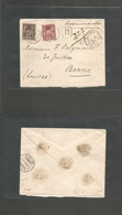China. 1902 (18 July) French Post Office, Shanghai - Switzerland Bern (22 Aug) Registered Multifkd Envelope Ovptd Sage I - Non Classificati