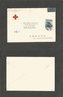 China - Prc. 1959 (27 Nov) Peking - Switzerland, Geneva. Red Cross. Fkd Airmail Envelope Cds. Scarce. - China