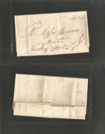 "D.W.I.. 1794 (7 Oct) St. Thomas - USA, Newbury Port (Nov 4) Via NY (Oct 31) / ""Captain Harthaway"" Endorsed On Front. VF - Antillen"