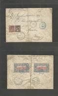 Ethiopia. 1902 (May) Adis Abeba - Germany, Munich (14 June) Via Harar (26 May) Djibouti. Registered Mixed French Col Som - Ethiopie