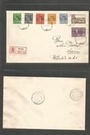 Finland. 1941 (1 Oct) Karelia. Annus - Helsinki (5 Oct) Ovptd Issue Registered Multifkd Env + R-label. VF. - Finland