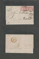 German States-N.G.Conf.. 1871 (20 July) Forerunner. Danzig - Poland, Warsaw. Arrival Cachet. EL Fkd 1gr Red Strip Of Thr - Deutschland