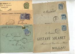 Lot 20 Lettre Cachet Sur Sage à Voir - Poststempel (Briefe)
