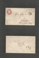 German States-Prusia. C. 1860s (25 March) Oelde - Munster. 1sgr Red Stat Env, Village Ds + Pen Cancel. Fine Used. - Zonder Classificatie