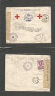 Bc - Gold Coast. 1942 (1 Oct) Red Cross. WWII. Dual Censor Accra - Senegal, Dakar. Via Sierra Leone (14 Oct) - Portugal - Unclassified