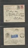 Bc - Kenya. 1932 (30 Aug) Lundi - Egypt, Port Said (8 Sept) Air Fkd Env, Via Par Es Jalaam - Nairobi - Doma - Cairo. VF - Unclassified