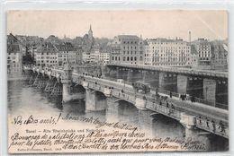 Basel Alte Rheinbrücke Und Notbrücke - BS Basel-Stadt