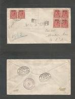 Bc - Turks & Caicos. 1917 (Oct 11) Turks Island - USA, Aberdeen, Mississipi (24 Oct) Via NY. War Tax Ovptd Multifkd Regi - Unclassified