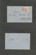 Italy Lombardy - Venetia. 1864 (13 Jan) Treviso - Cittadella. EL Fkd 5 Soldi Rose Perf 14-15, Tied Cds. Fine. - Italy