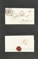 "Italy Papal States. 1857 (5 Sept) Roma - Netherlands, Arnhem (10 Sept) E. Depart. Pontific Seal. Via Marseille + ""PD"". V - Italy"