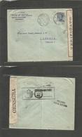 "Italian Levant. 1919 (20 Sept) Constantinople - Switzerland, Geneve. ""Posta Militare 15"" Cachet + Italy Censor Label Lev - Italie"