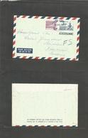 Korea. 1960 (10 June) Seoul - Sweden, 100w Blue Stat Air Lettersheet + Adtl. Scarce Usage. - Corée (...-1945)
