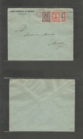 Mexico - Xx. 1914 (2 June) US Occupation. Veracruz - Merida, Yucatan. Comercial Envelope Fkd Bisected 20c + 1c + 4c At 1 - México
