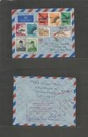 Dutch Indies. 1960 (22 Oct) Indonesia. Djakarta - USA, Berlin, NJ (24 Oct) Air Registered Multifkd Env. Fine Usage Mixed - Indonesia