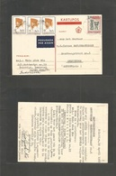 Dutch Indies. 1967 (19 Apr) Indonesia Salatiga - Netherlands, Amsterdam. Air Multifkd Card, Mixed Issues + Control Shiel - Indonesia