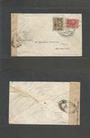 Siam. 1915 (18 Apr) WWI Intervention BKK2 - Switzerland, Bern. Fkd Comercial France Censored Usage Red Cross + Victory, - Siam