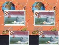 Apollo 9+10 Overprint 1968 Manama A-B 211,Blocks I+J 35 O 60€ USA-Raumschiffe Hojitas S/s Blocs M/s Sheets Bf Space - Stamps