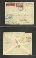 Marruecos - French. 1933 (28 Oct) Azilal - Blaringhem, France. Military Envelope Cachet, Air Fkd + Poste Aux Armes Cache - Morocco (1956-...)