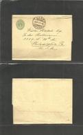 Switzerland - Stationery. 1907 (28 Nov) Bern - USA, Pha. 5c Green Stat Complete Wrapper. Fine And Scarce Transatlantic U - Switzerland