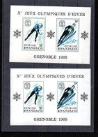 RWANDA BLOCS 10 + ND** SUR LES J O DE GRENOBLE 1968 - Rwanda