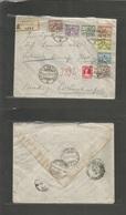 Vatican. 1929 (16 Dec) Poste Vaticane - Turkey, Constantinople. Registered Multifkd Envelope. Via Triest, Transits + Arr - Vatikan