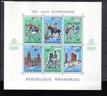 RWANDA BLOC 11** SUR LES J O DE MEXICO 1968 - Rwanda