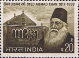 MH STAMPS India - Syed Ahmad Khan Commemoration -  1973 - India