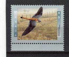 CANADA - Y&T N° 1450** - Faune - Oiseau - Crécerelle D'Amérique - 1952-.... Règne D'Elizabeth II