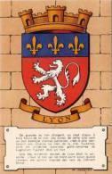 Maurice Jacquez - Blason - Heraldiques Des Villes De France - Lyon    (A388) - Autres Illustrateurs