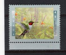 CANADA - Y&T N° 1453** - Faune - Oiseau - Colibri à Gorge Rubis - 1952-.... Règne D'Elizabeth II
