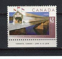 CANADA - Y&T N° 1428** - Pont Couvert De Hartland - 1952-.... Règne D'Elizabeth II