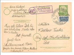 Landpoststempel Schmie über Mühlacker - BRD