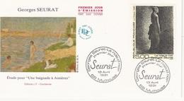 FDC  France Env. 1er Jour - Georges Seurat - 68 Mulhouse 13.04.1991 - Timbre 2693 - 1990-1999