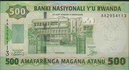 B 112 - RUANDA Billet De 500 Francs De 2004 état Neuf 1er Choix - Rwanda