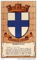 Maurice Jacquez - Blason - Heraldiques Des Villes De France - Marseille   (A387) - Autres Illustrateurs