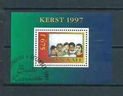 1997 Suriname Complete M/Sheet Child Welfare Used/gebruikt/oblitere - Suriname