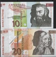 B 113 - SLOVENIE Billets De 10 Et 20 De 1992 état Neuf 1er Choix - Slovenia