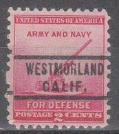 USA Precancel Vorausentwertung Preo, Locals California, Westmoreland 742 - Vereinigte Staaten